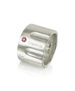 Calibro12 | Кольцо Из Серебра 925 Пробы С Рубином И Цепочкой