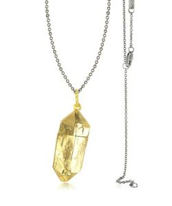 BJORG | Magic Hour Ожерелье С Золотистым Чармом Rock Box