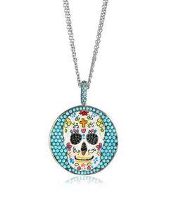 Azhar | Calavera Ожерелье Из Серебра С Напылением Родия И Подвеской-Черепом