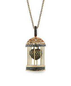 Azhar | Gabbietta Ожерелье С Подвеской-Клеткой Из Серебра С Цирконием