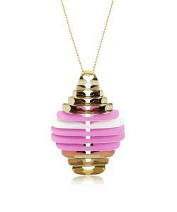 Pluma | Ожерелье С Золотистой Розовой И Белой Подвеской