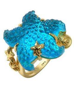 Tagliamonte | Marina Collection Кольцо Из Золота 18 Карат С Синей Морской Звездой