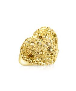 Gis le St.Moritz | Fantasmania Gold Crystal Big Heart Ring