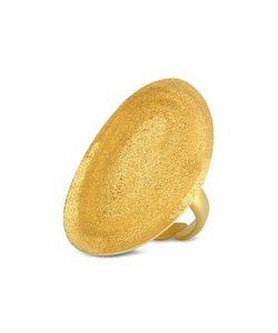Stefano Patriarchi | Золотистое Точеное Овальное Кольцо Из Серебра