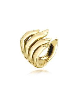 Bernard Delettrez | Open Hand Золотистое Женское Кольцо Из Бронзы