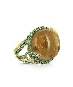 Sho London   Кольцо Feodora Из Золота 18 Карат С Дымчатым Кварцем
