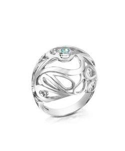 Sho London   Mari Кольцо Из Серебра 925 Пробы С Дымчатым Кварцем Синими И Белыми Топазами