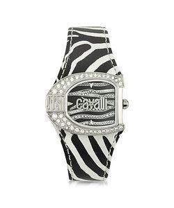 Just Cavalli | Logo Jc 2h Женские Часы Из Нержавеющей Стали С Черным Кожаным Ремешком Animaliér