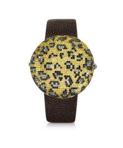 CHRISTIAN KOBAN | Clou Dinner Леопардовые Часы С Бриллиантами И Сапфирами