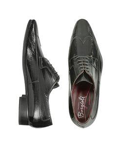Fratelli Borgioli | Черные Костюмные Туфли Из Кожи Угря Ручной Работы