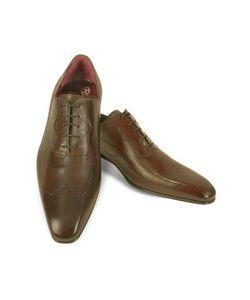 Fratelli Borgioli | Итальянские Коричневые Кожаные Туфли Ручной Работы С Декорированным Мысом