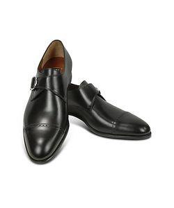 Fratelli Rossetti | Черные Туфли Из Кожи Теленка С Ремешком