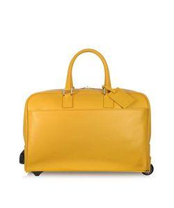 Giorgio Fedon | Travel-Tr-Bag Желтая Кожаная Дорожная Сумка На Колесиках