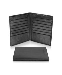 Giorgio Fedon | Classica Collection Черный Вертикальный Бумажник Из Кожи Теленка