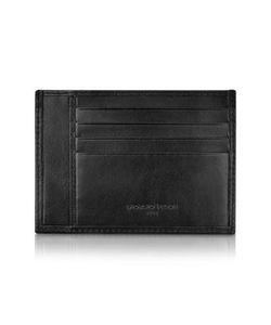 Giorgio Fedon | Classica Collection Черный Бумажник Для Карточек Из Кожи Теленка