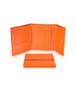 Giorgio Fedon | Classica Оранжевый Женский Бумажник Из Кожи Теленка С Клапаном
