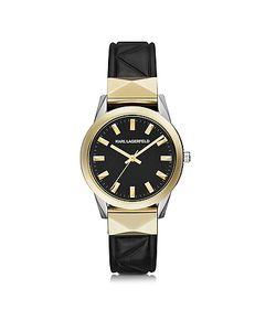 Karl Lagerfeld | Labelle Stud Klassic Черные И Золотистые Женские Часы