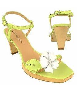 Borgo Degli Ulivi | Flower Pistachio Platform Leather Sandal Shoes