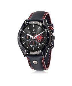 Maserati | Sorpasso Мужские Часы Хронограф С Черным Корпусом Из Нержавеющей Стали И Кожаным Ремешком