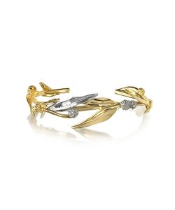 Aurelie Bidermann | 18k Plated Brass Mimosa Bangle Bracelet