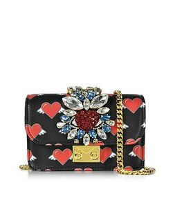 Gedebe | Mini Clicky Flying Hearts Leather Clutch