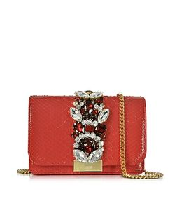 Gedebe | Clicky Python Clutch W/Crystals