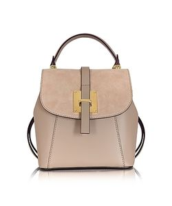 Le Parmentier | Suede And Leather Small Backpack