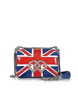 Dsquared2 | Dd British Flag Suede Patent Leather Mini Shoulder Bag