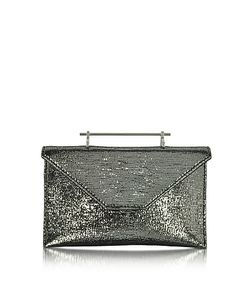 M2Malletier | Annabelle Textured Fabric Clutch W/Chain