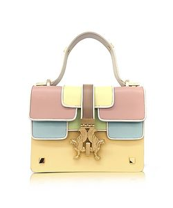 GIANCARLO PETRIGLIA | Sabrina P-Bag Color Block Leather Handle Bag