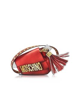 Moschino | Signature Leather Asymmetric Clutch