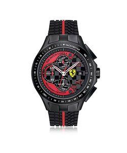 Ferrari | Race Day Черные И Красные Мужские Часы Хронограф Из Нержавеющей Стали С Силиконовым Ремешком