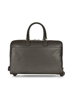 Giorgio Fedon | Dark Brown Travel Leather Rolling Duffle
