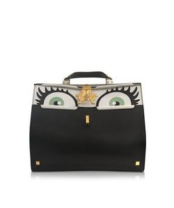 GIANCARLO PETRIGLIA | Big Peggy Eyes Multicolor Leather Bag