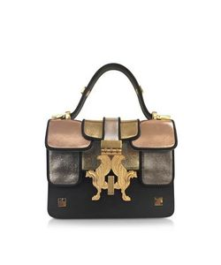 GIANCARLO PETRIGLIA | Mini P Multicolor Metallic Leather Bag