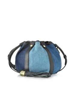 See by Chlo | Denim Blue And Leather Bucket Crossbody Bag
