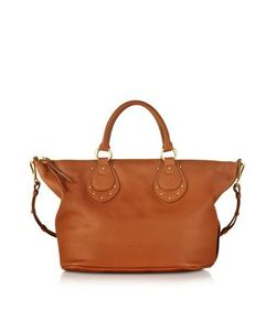 See by Chlo | Janis Sbc Large Suntan Leather Top Zip Tote