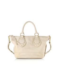 See by Chlo | Janis Sbc Medium Milk Leather Top Zip Tote