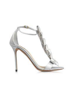 Olgana | La Delicate White Satin T-Strap Sandal