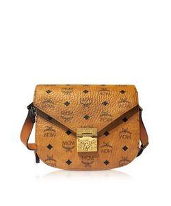 MCM | Patricia Visetos Cognac Small Shoulder Bag