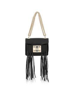 Salar   Gaia Knot Leather Shoulder Bag W/Fringes