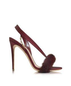 Olgana | Lamazone Satin And Mink Sandal