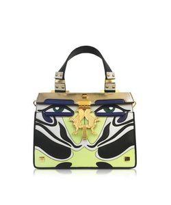 GIANCARLO PETRIGLIA | Mini Peggy Eyes Inlaid Leather Bag