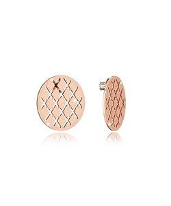 Rebecca | Melrose Rose Over Bronze Stud Earring
