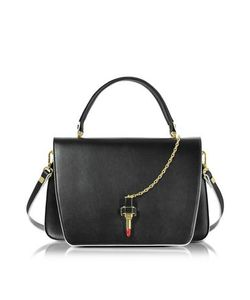 GIANCARLO PETRIGLIA | Big Queen Leather Bag W/Lipstick Fastening Detail