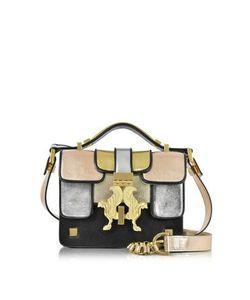 GIANCARLO PETRIGLIA | Mini P Metallic Leather Bag