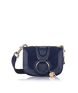 See by Chloé | Hana Ultramarine Leather Suede Small Crossbody Bag