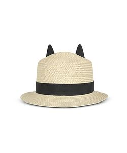 Karl Lagerfeld | Natural Small Brim Hat