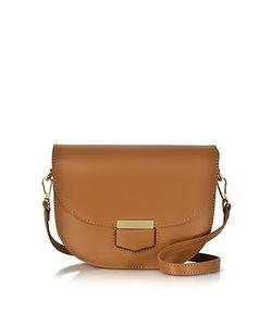 Le Parmentier | Clio Smooth Leather Flap Shoulder Bag