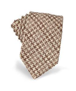 Forzieri | Pied De Poule Woven Silk Tie